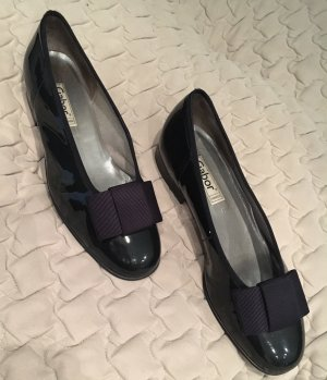 Gabor Patent Leather Ballerinas dark blue