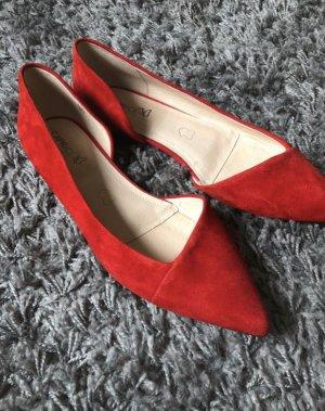 Caprice Ballerinas with Toecap red