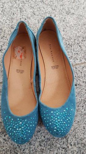 5th Avenue Ballerina aperta sul tallone blu fiordaliso