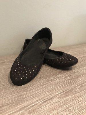 H&M Baleriny z odsłoniętym palcem czarny
