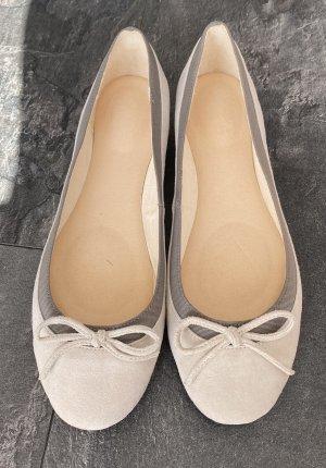Foldable Ballet Flats natural white-light grey