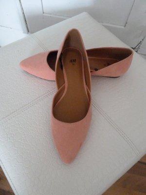 H&M Ballerina's met kant abrikoos
