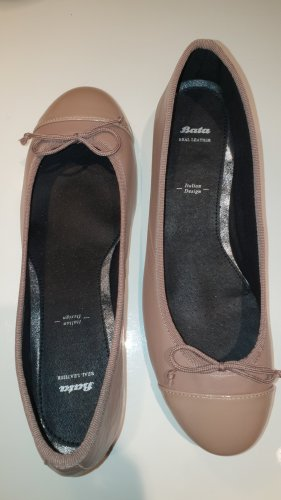 Bata Ballerinas with Toecap rose-gold-coloured leather