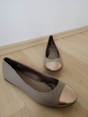 H&M Mary Jane Ballerinas rose-gold-coloured-beige