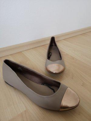 Ballerinas beige roségold NEU