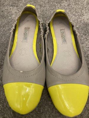 Bugatti Classic Ballet Flats light grey-neon yellow