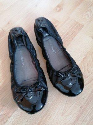 Butterfly twists Foldable Ballet Flats black