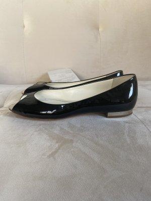 Chanel Ballerina a punta nero-argento