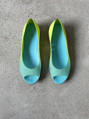 Crocs Moccasins yellow-turquoise