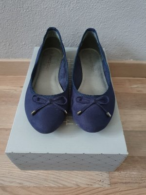 Ballerinas Damenschuhe offen Marco Tozzi blau dunkelblau Größe 37