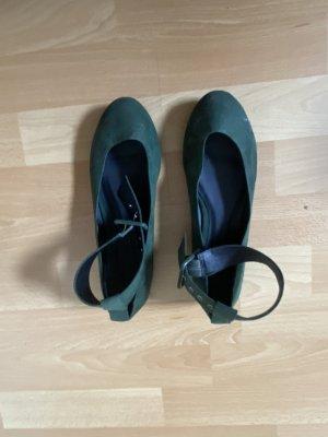 Ballerinas dunkelgrün Gr. 38