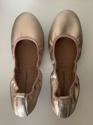 Ballerines pliables or rose