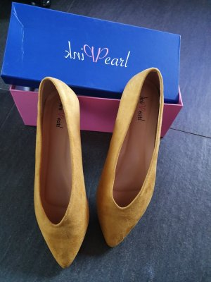 Ballerina Mary Jane giallo-oro Fibra tessile