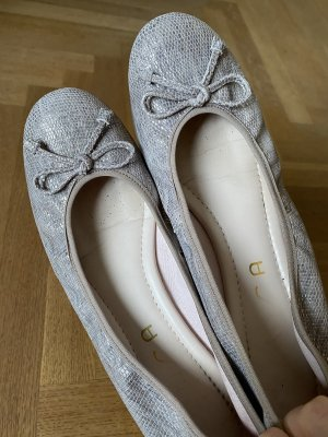 Unisa Classic Ballet Flats silver-colored-gold-colored leather
