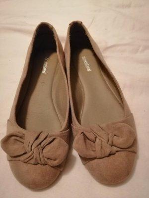 Graceland Mary Jane Ballerinas grey brown