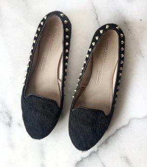 Zara Woman Mocassins zwart-goud