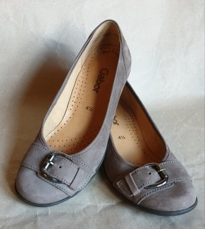 Gabor Mary Jane Ballerinas light grey-beige leather