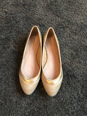 ballerinas gold silber von lands end leder stoff 38