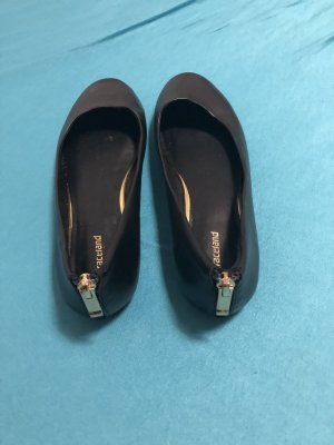Graceland Ballerina di pelle verniciata nero