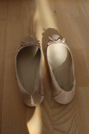 Graceland Ballerina di pelle verniciata rosa antico-rosa pallido