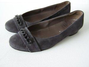 Jenny Ballerines à bout ouvert gris foncé cuir