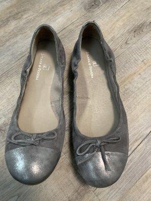Ballerina pieghevole grigio chiaro-argento