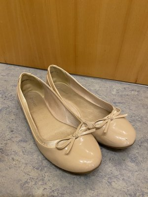 Graceland Patent Leather Ballerinas cream