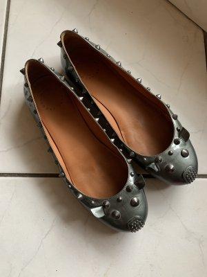 Marc Jacobs Patent Leather Ballerinas dark grey