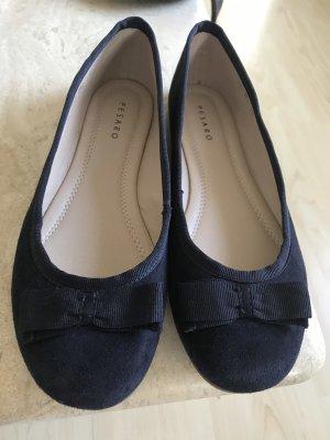 Pesaro Bailarinas con tacón Mary Jane azul oscuro