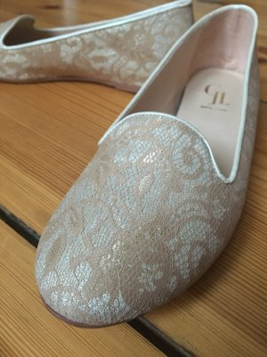 Ballerinas mit Damastmuster - Made in Italy