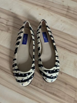 Ballerinas mit Nieten in Zebra-Look von Jimmy Choo