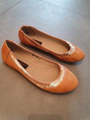 Ballerinas mit Pailletten in Gr. 36