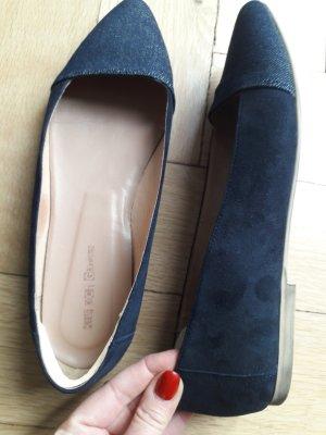 Kauf Dich Glücklich Ballerinas with Toecap beige-dark blue leather