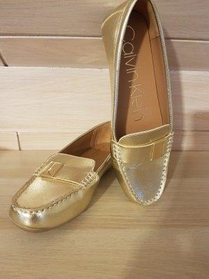 Calvin Klein Mocasines color oro-marrón claro