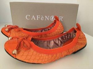 Ballerinas orange, Grösse 36 CafeNoir