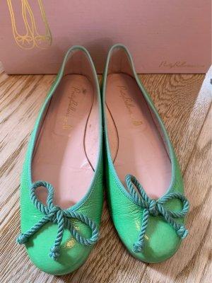 Pretty ballerinas Ballerines en cuir verni vert