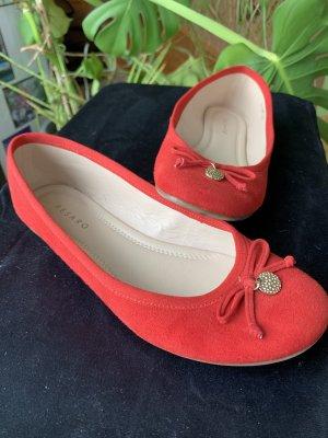 Pesaro Mary Jane Ballerinas red-brick red