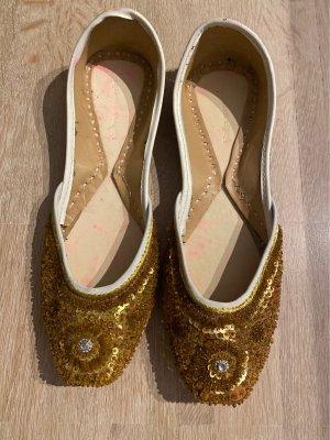 Ballerinas / Schlüpfschuhe Orient gold
