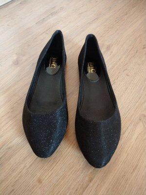 Ballerinas Schuhe schwarz Glitzer Neu