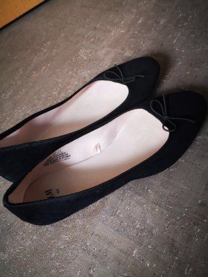 H&M Składane baleriny czarny