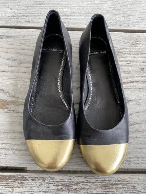 Ballerinas schwarz gold Vagabond Gr. 38