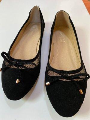 Ballerinas schwarz mit Schleife Gr. 40