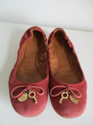 Chloé Ballerinas with Toecap russet leather