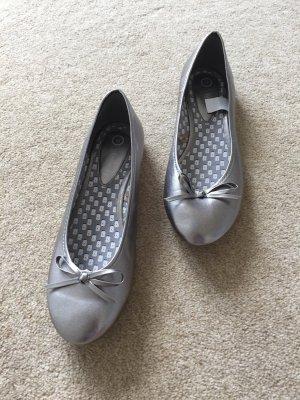Ballerinas silber, Gr.39, nie getragen!