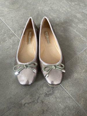 Ballerinas Silber mit Schleifchen Gr. 38