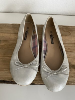 Patent Leather Ballerinas silver-colored