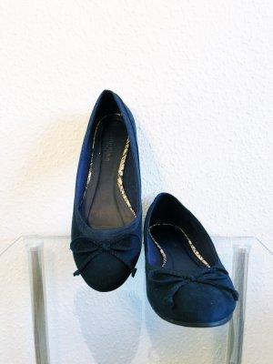 Jane Klain Peep Toe ballerina's blauw-donkerblauw
