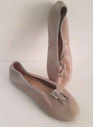 Soir de Lune Foldable Ballet Flats beige leather