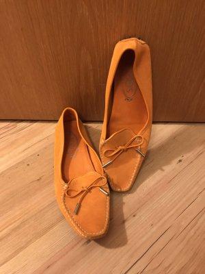 Tod's Ballerinas with Toecap orange leather