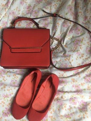Orsay Bailarinas con tacón Mary Jane rojo